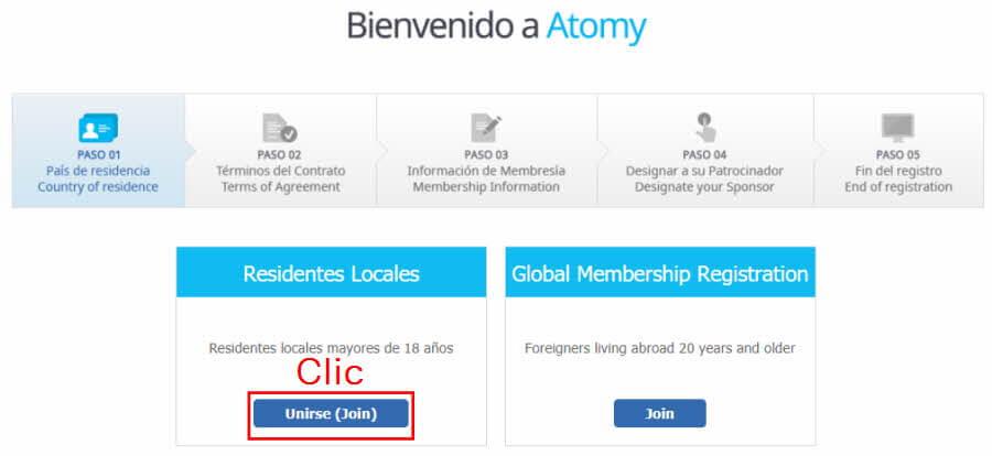 Registro Atomy